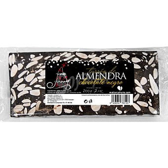 MALLORCA FRUITS Turrón de chocolate negro Tableta 200 g