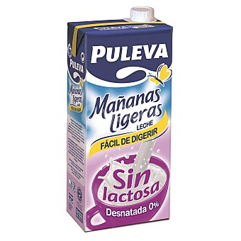 Puleva Leche desnatada sin lactosa Mañanas Ligeras 1 l