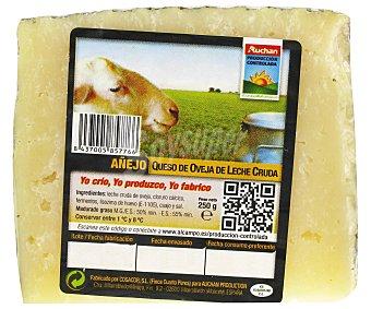 Auchan Producción Controlada Queso añejo de oveja en cuña 250 gramos