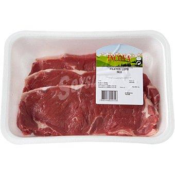 INCOVA Añojo lomo bajo en filetes 2-3 unidades peso aproximado bandeja 500 g 2-3 unidades