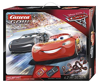 Carrera Circuito de carreras eléctrico Cars 3, incluye 2 coches go!! Go!! Cars