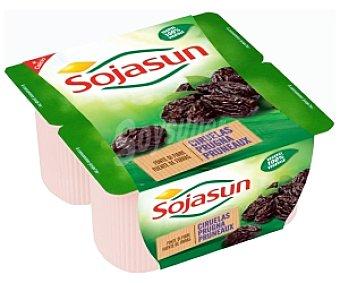 Sojasun Postre de soja ciruelas Pack 4 Unidades de 100 Gramos