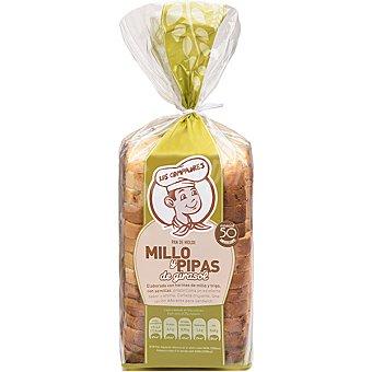 Panadería Los Compadres pan de molde de millo y pipas paquete 500 g