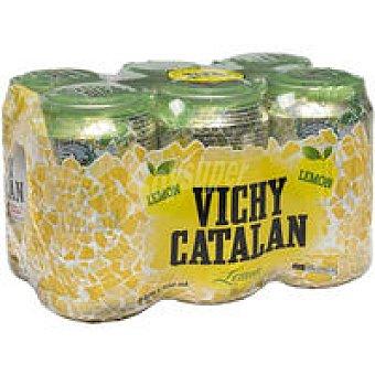 Vichy Agua con gas de limón Pack 6x33 cl