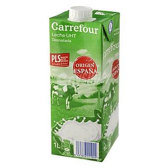 Carrefour Leche desnatada 1 l