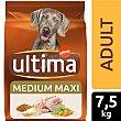 Alimento para perros adulto con pollo y arroz Bolsa 7,5 kg Ultima Affinity