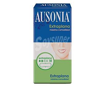 Ausonia Compresa extraplana normal Paquete de 18 unidades