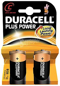 DURACELL Plus Power Pilas alcalinas plus LR14 1,5V 2 Unidades