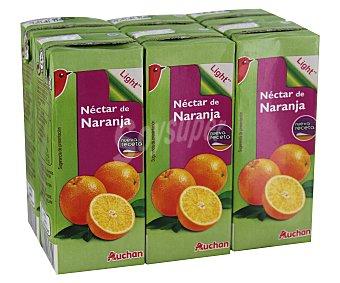 Auchan Néctar de naranja con contenido reducido de azúcares 6 unidades de 20 cl