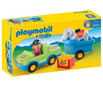 Playmobil 1.2.3 Escenario de juego Coche con remolque, 1.2.3 6958 playmobil