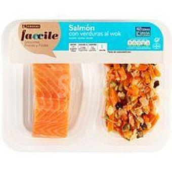 Eroski Faccile Lomos de salmón con verduras al wok 250 g