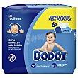 Toallitas húmedas para bebé con acción hidratante 6 x 64 uds Dodot