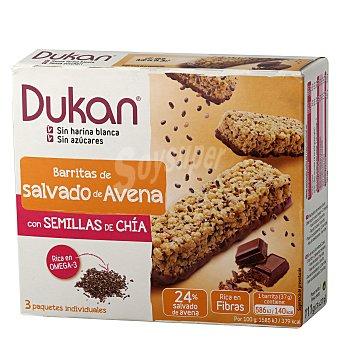 Dukan Barritas de salvado de avena y chía Pack 3x37 g