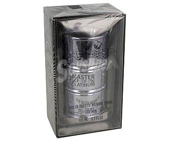 Master Eau de toilette para hombre con vaporizador en spray OF essence platinum 100 ml