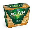 Yogur con fibras y cereales Pack 4 envases x 125 g Activia Danone