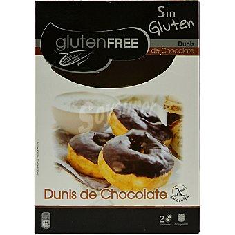 GLUTENFREE Dunis de chocolate congelados sin gluten envase 100 g 2 unidades