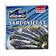 Sardinillas en aceite vegetal 20/25 piezas Lata 187 gr Diamir
