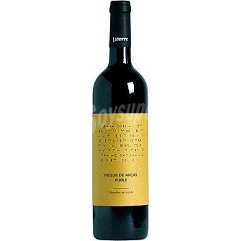 Duque de arcas Vino tinto tempranillo cabernet sauvignon barrica D.O. Utiel Requena Botella 75 cl