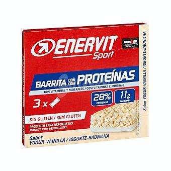 Enervit Sport Barrita proteínas yogur y vainilla para deportistas Caja 3 u x 40 g