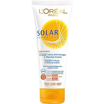 L'Oréal Solar Expertise crema activa anti-arrugas & manchas solares FP15 frasco 75 ml especial rostro escote y manos Frasco 75 ml