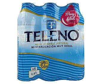 Teleno Agua Mineral Pack 6 Unidades de 50 centilitros