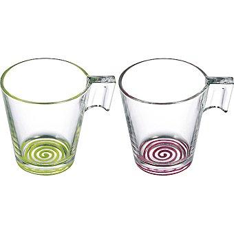 LUMINARC Cupissimo Tazas de color verde y frambuesa set de 2 unidades 22 cl