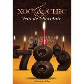Xoc & Chic Vela de chocolate Nº 8 Pack 1 unid