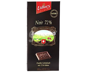Villars Chocolate negro suizo 72% Tableta de 100g
