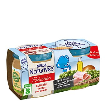 Nestlé - Naturnes Tarrito de guisantes tiernos con jamón Nestlé pack de 2x200 g