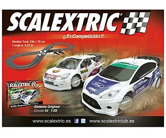 SCALEXTRIC Circuito Pista de Carreras Original C2 Rally x-treme 1 Unidad