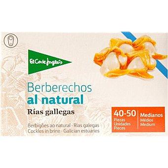 El Corte Inglés Berberechos al natural de las rías gallegas 40-50 piezas lata 63 g neto escurrido Lata 63 g neto escurrido