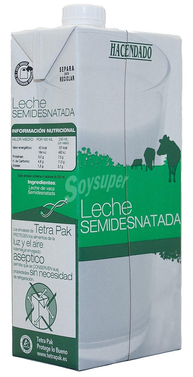 Leche semidesnatada hacendado informacion nutricional