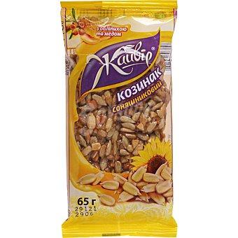 JAYVIR Barritas de cereales con pipas de girasol Envase 65 g