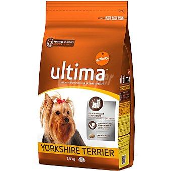 Ultima Affinity Rico en pollo y arroz para perros de raza mini Yorkshire Terrier Bolsa 1,5 kg
