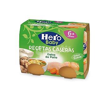 Hero Baby Tarritos de guiso de pollo Pack de 2 unidades de 190 gramos