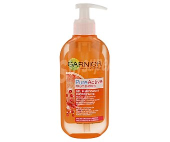 Garnier Skin Naturals Pure Active Gel purificante Fruit Energy con extractos de Pomelo Granada y vitamina C Frasco 200 ml