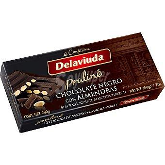 Delaviuda Turrón de chocolate negro con almendras Tableta 200 g