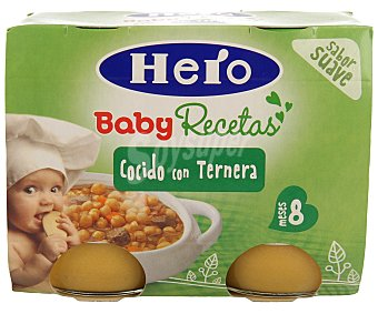 Hero Baby Cocido con Ternera Recetas Caseras 2 Unidades de 190 Gramos