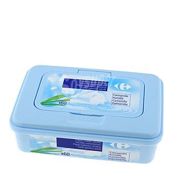 Carrefour Papel higiénico húmedo caja+recambio 60 ud