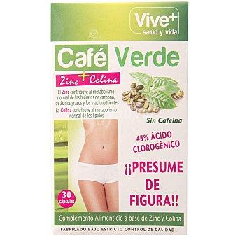 Vive+ Café verde zinc + colina Caja 30 capsulas