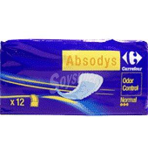 Carrefour Compresa para pequeñas pérdidas de orina ' Absodys Control ' normal Paquete de 12 unidades