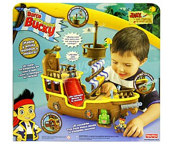 FISHER PRICE Bucky Barco Pirata Musical de Jake y los Piratas 1 Unidad