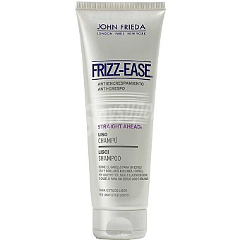 JOHN FRIEDA Frizz Ease Champú Straight Ahead para cabello liso anti encrespamiento Frasco 250 ml