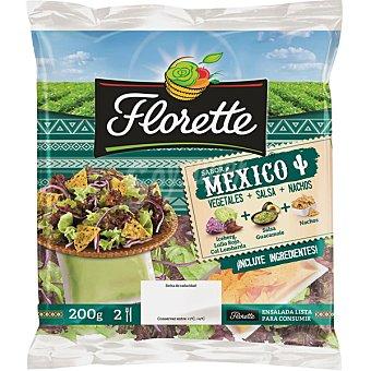 Florette Ensalada México con vegetales, salsa y nachos Bolsa 220 g