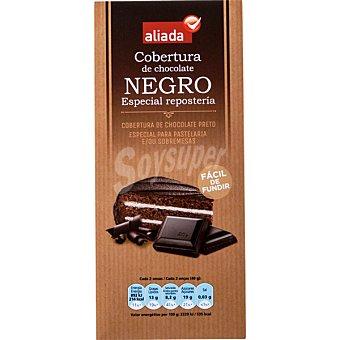 Aliada Cobertura de chocolate negro especial repostería fácil de fundir Tableta 200 g