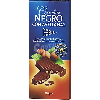 HIPERCOR chocolate negro con avellanas tableta 150 g