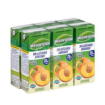 Hacendado Bebida melocoton (sin azucares añadidos) 6 x 200 ml