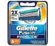 Recambio de cuchillas de 5 hojas para maquinilla de afeitar manual 6 unidades Gillette Fusion Proglide