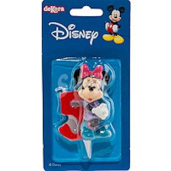 DEKORA Vela familia Disney Nº5 1 unidad