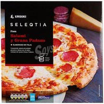 Eroski Seleqtia Pizza de salami-grana padano Eroski 1 unid